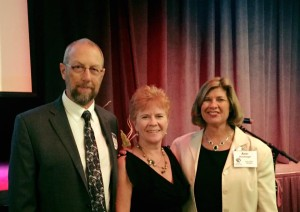Dan and Connie as keynote speakers with Ann Hunsinger, ED at Women's Resource Center of the Rockies.